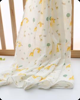 fawn muslin swaddle blanket