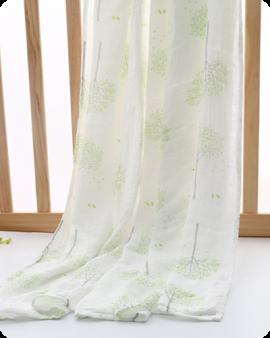 green tree muslin swaddle blanket