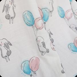 rabbit muslin swaddle blanket