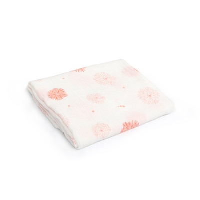 chrysanthemum bamboo cotton muslin swaddle