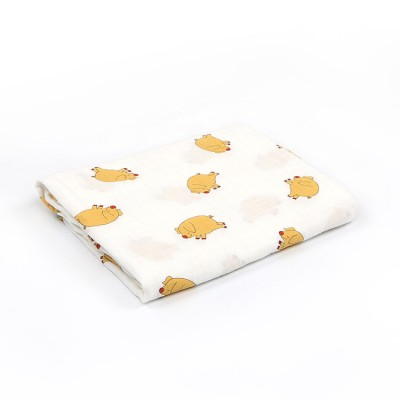 pig 100% cotton muslin swaddle