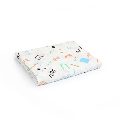 colorful geometric 100% cotton muslin swaddle