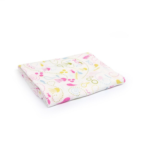 pink underwater world 100% cotton muslin swaddle