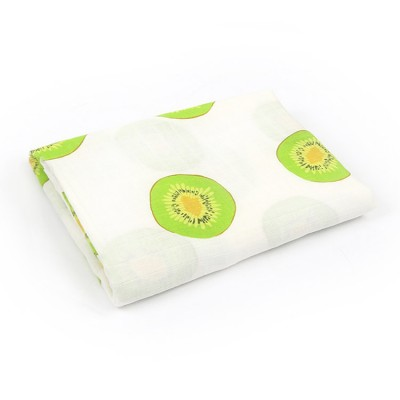 kiwi fruit organic swaddle blankets