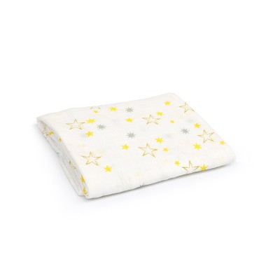 twinkle bamboo cotton muslin swaddle