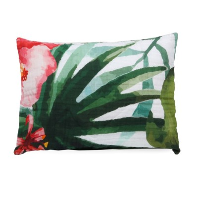 digital print tropical flowers bamboo twill toddler pillowcase
