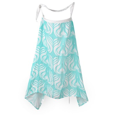 green onion bamboo muslin nursing cover