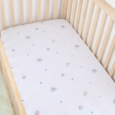 little prince cotton muslin baby fitted crib sheet