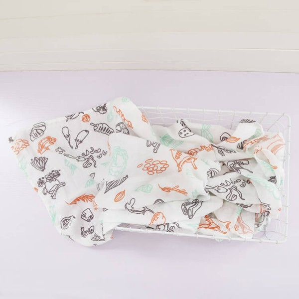 vegetable farm summer baby swaddle blankets