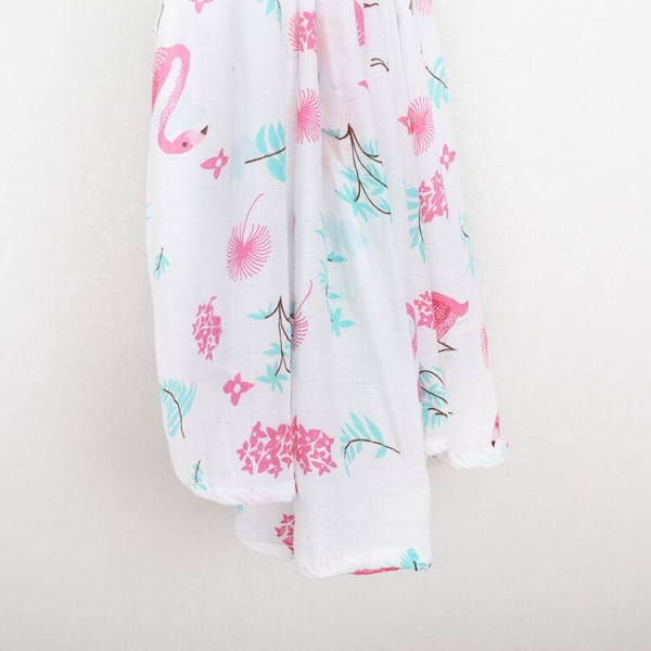 flamingo bamboo cotton muslin swaddle blankets