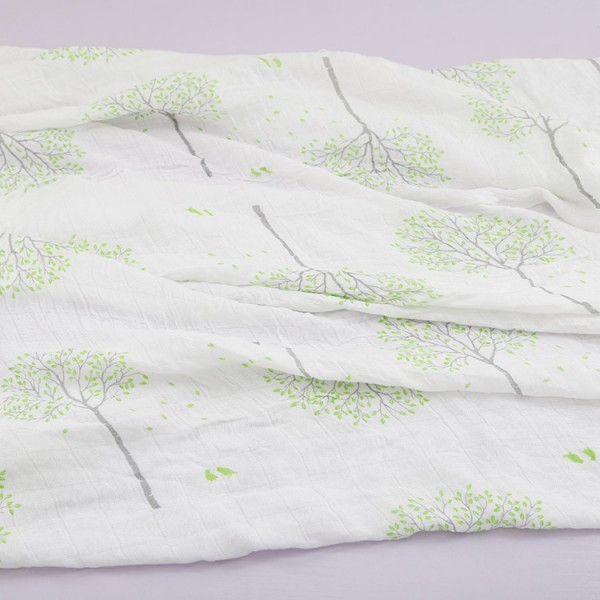 green tree pure bamboo swaddle blankets