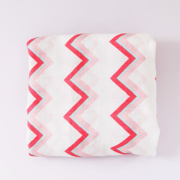 pink stripe 100% cotton muslin swaddle