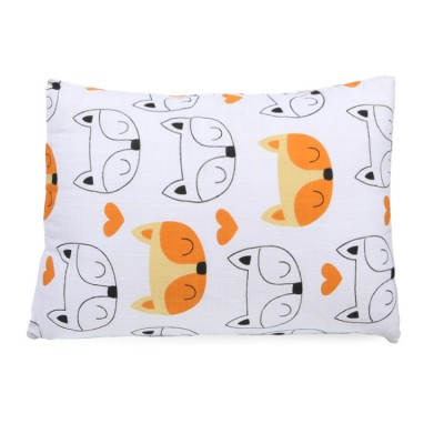 orange fox pigment cotton muslin toddler pillowcase