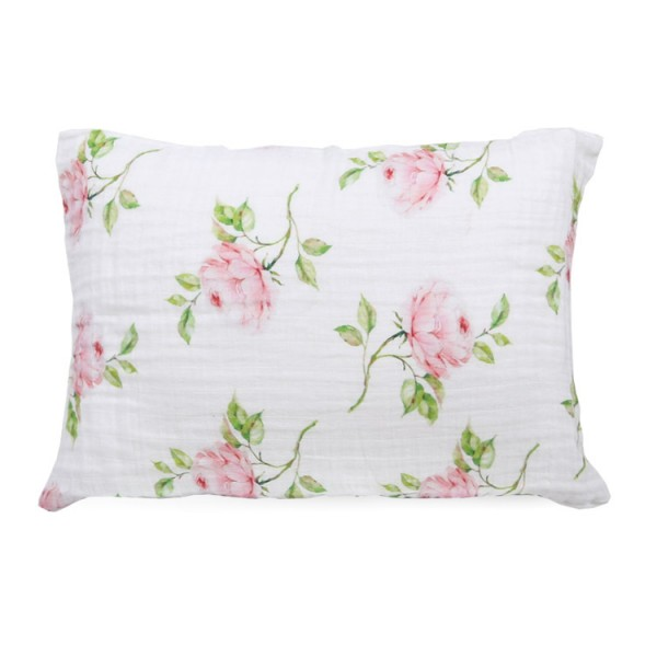 pigment print rose bamboo twill toddler pillowcase