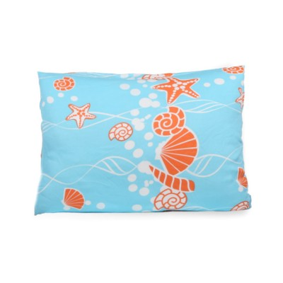 reactive print sea bamboo twill toddler pillowcase