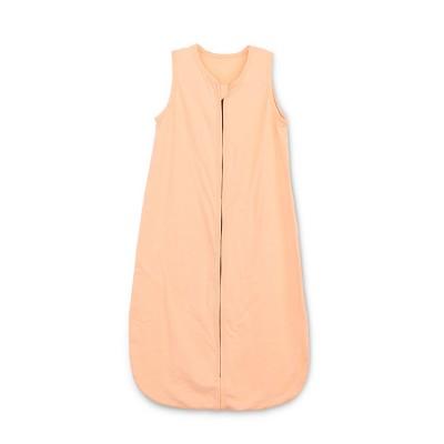 solid color orange cotton jersey baby sleeping bag