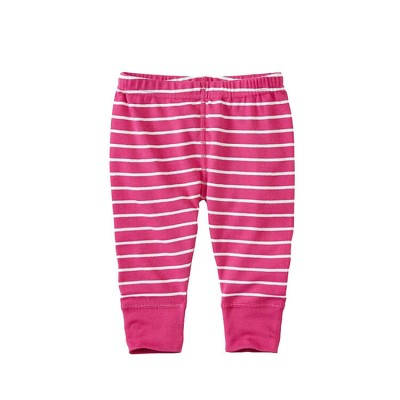 pink stripe baby pants