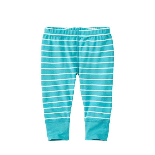 green stripe baby pants
