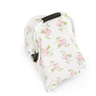 rose muslin baby car seat cover