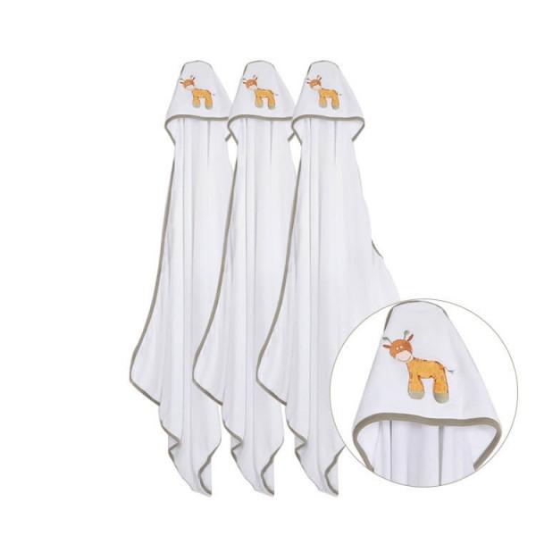 custom embroidery animal pattern newborn baby hooded towel