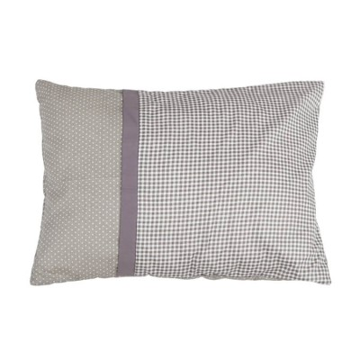 custom gray cotton twill infant pillow case