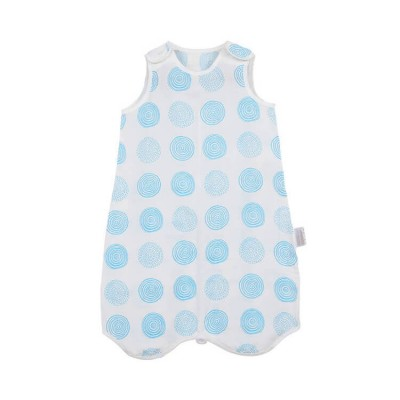 blue spiral cotton muslin single layer light baby sleeping bag