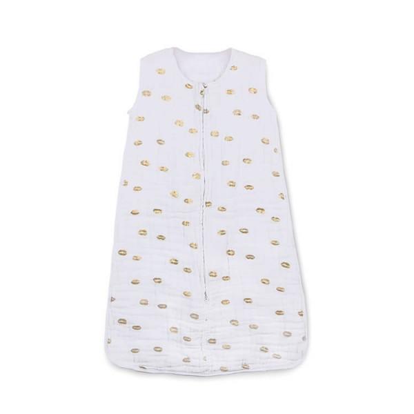 custom metallic gold 6 layer muslin gauze cotton baby sleep blanket