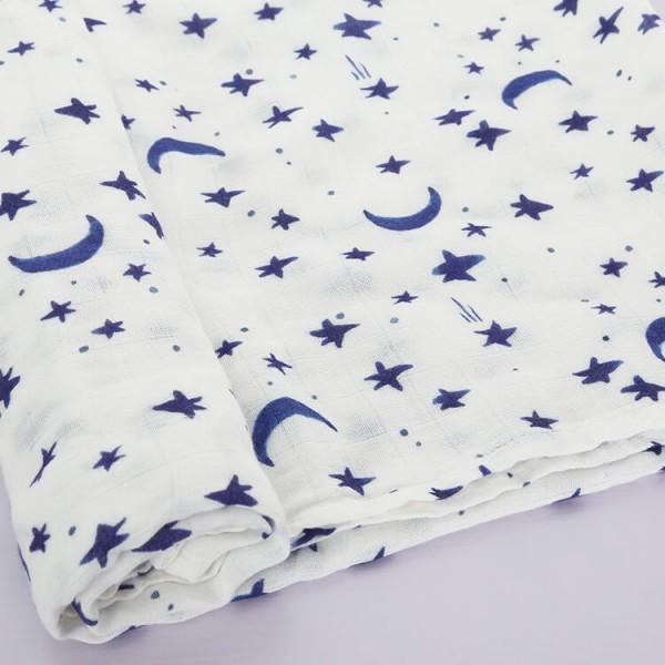 starry night watercolor swaddle blankets muslin