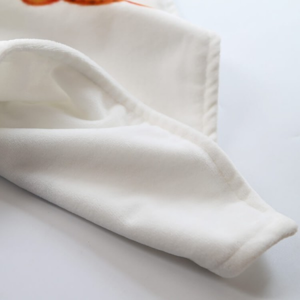 Supper soft full fleece milestone baby blanket