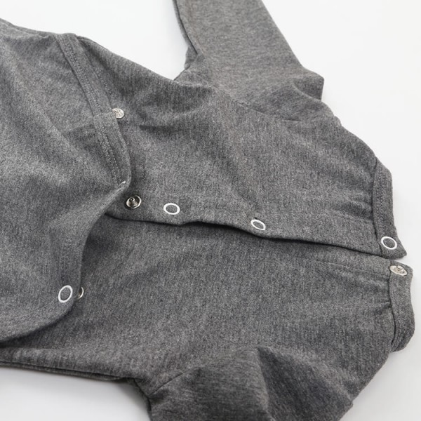 deep gray or custom soft cotton jersey baby jumpsuits