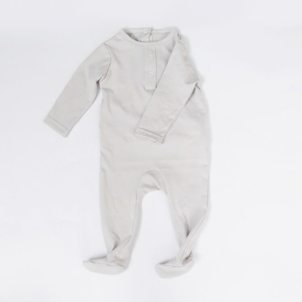 light gray or custom design baby romper long sleeve