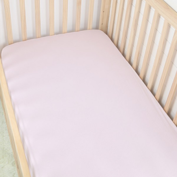 custom solid color soft jersey cotton baby fitted crib sheet