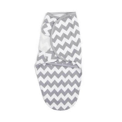 gray stripe soft cotton newborn swaddle wrap