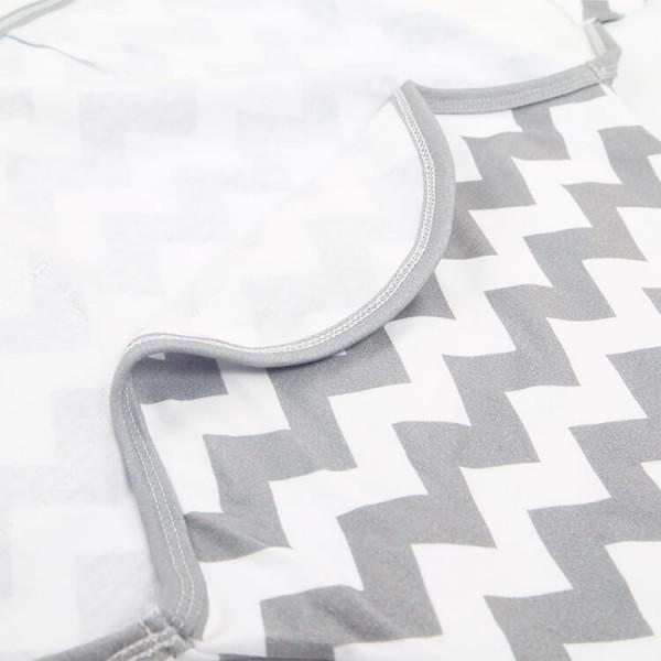 gray stripe soft cotton newborn swaddle wrap