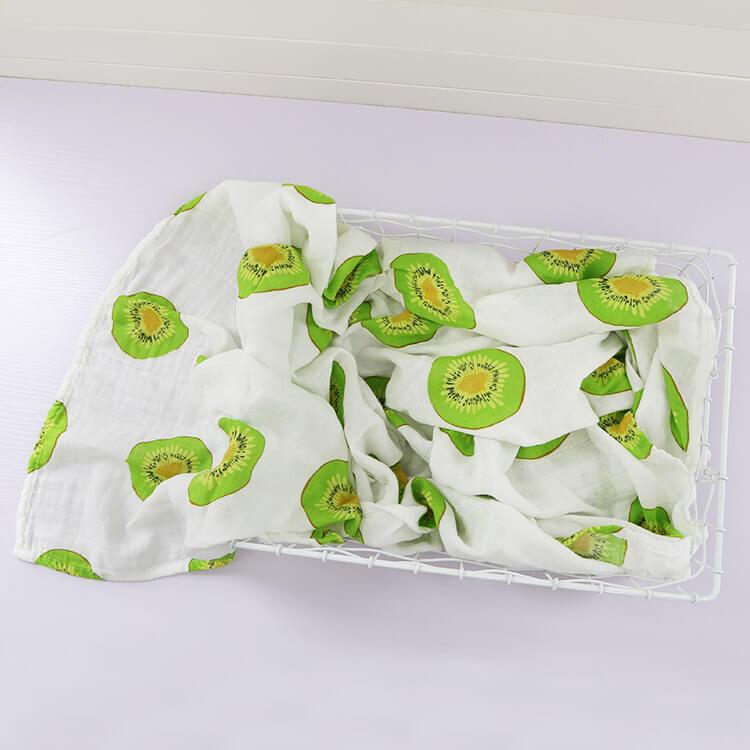 Kiwi Fruit Organic Swaddle Blankets Changyi City Hongbo