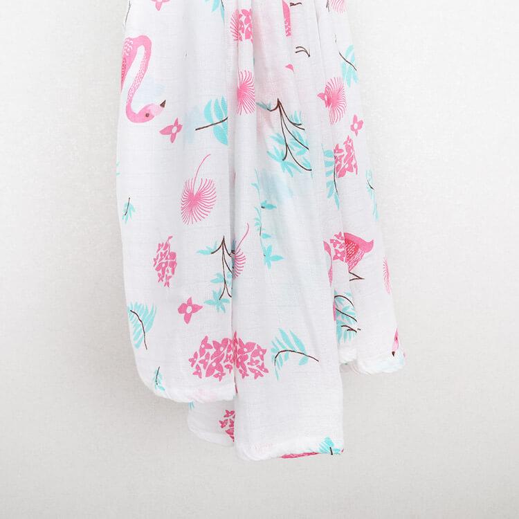 Flamingo Bamboo Cotton Muslin Swaddle Blankets Changyi