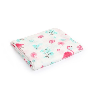 Flamingo Bamboo Cotton Baby Blankets