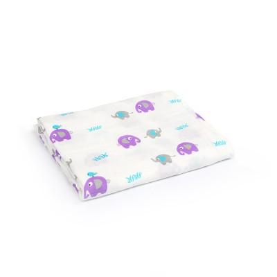 purple elephant bamboo cotton large swaddle blankets