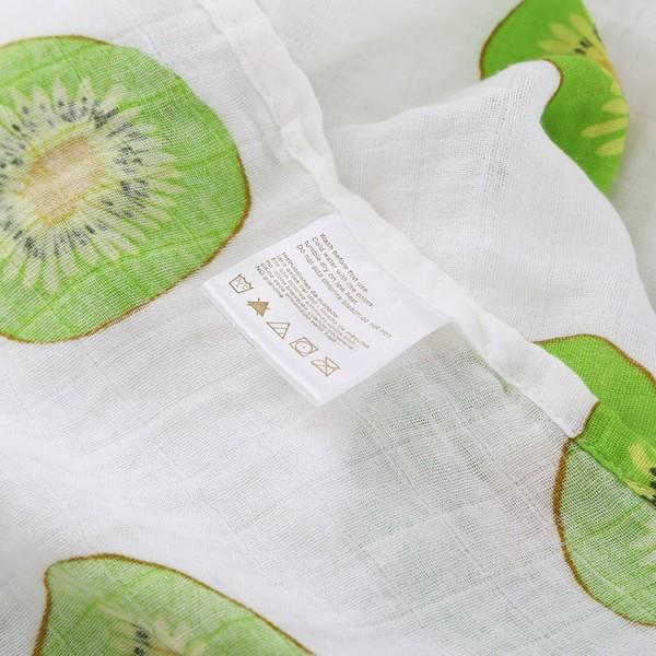 kiwi fruit organic swaddle blankets