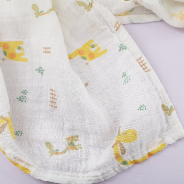fawn 100% cotton muslin swaddle