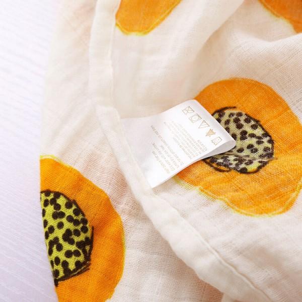 papaya 100% cotton muslin swaddle