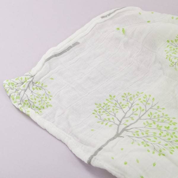 Silky bamboo muslin summer swaddle blanket