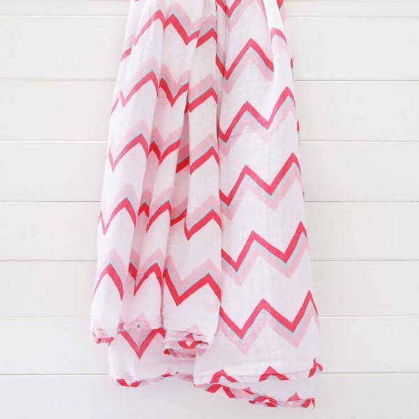 pink stripe 100% cotton muslin swaddle