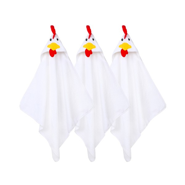rooster baby hooded towel