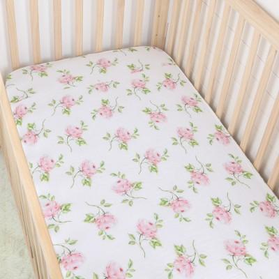 Floral Crib Sheet Cotton Muslin Fabric