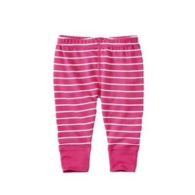 pink stripe baby pants