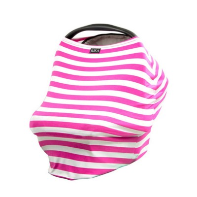 pink stripe flexible multi function baby car seat cover