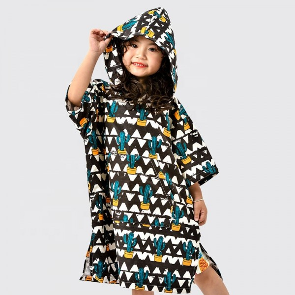Super Absorbent Quick Dry Hooded Poncho Towel