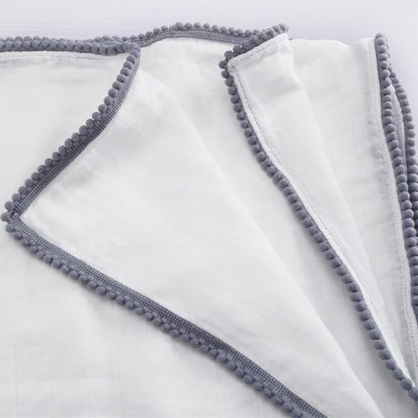 Pom Pom Baby Muslin Blankets