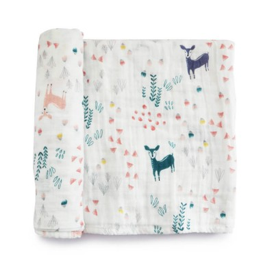 cute deer double layer gauze cotton muslin swaddle